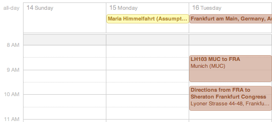 TripIt ical feed
