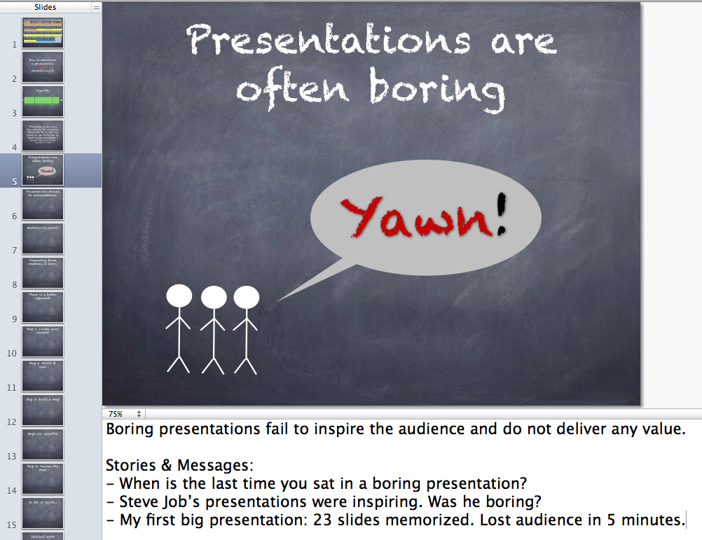 Presentation notes
